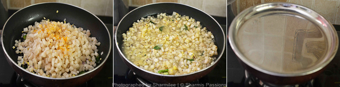 Vazhaithandu Poriyal Recipe - Step4