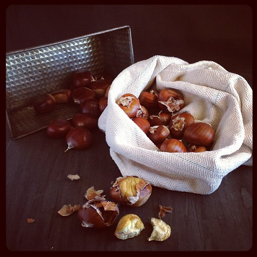 Did you know #chestnuts are in season in Australia right now? More about them soon! #iphoneonly #eatingtheprops #seasonal