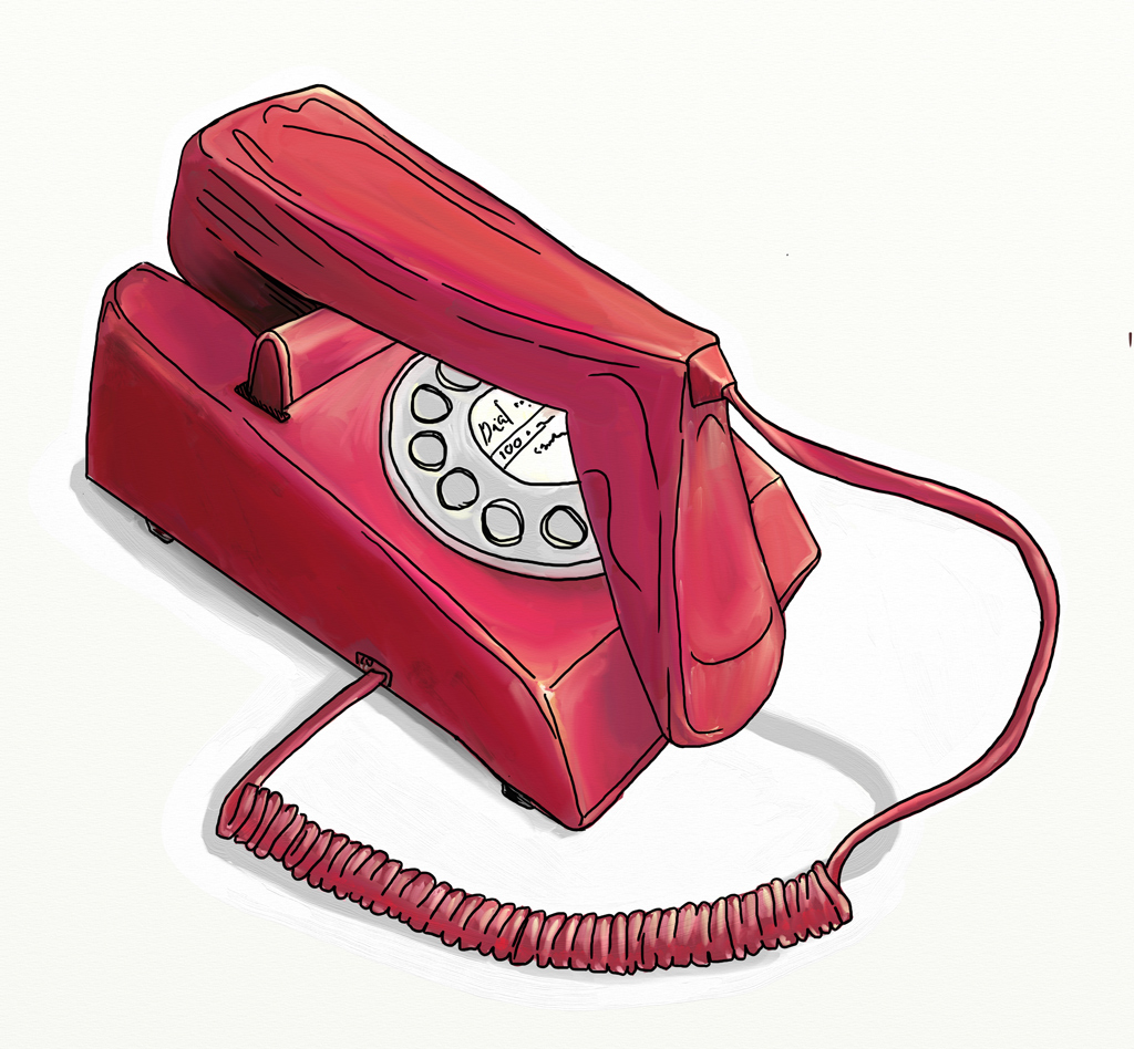 Pink 70s phone