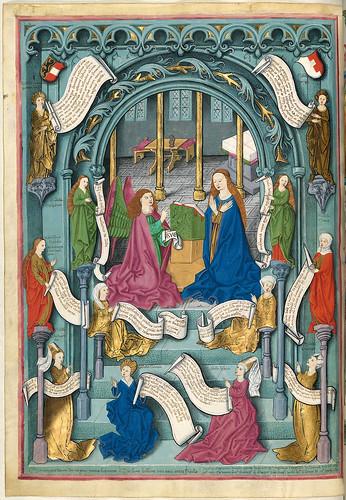 006- Anunciacion con doce Sibilas-Misal de Salzburgo-1499-Tomo 2 -Biblioteca Estatal de Baviera (BSB)