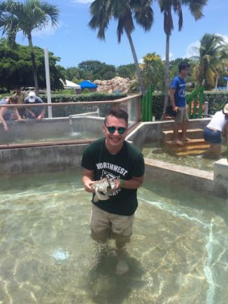 AJ Hinson representing Northwest in the Cayman Islands!