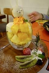 ミッフィーのマンゴーパフェ