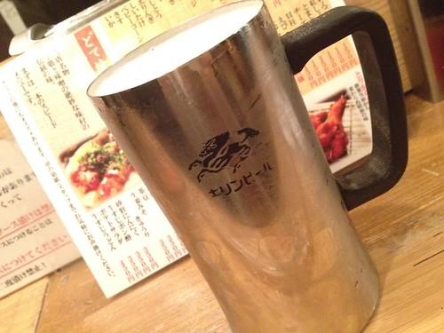 ビール480円@串かつ どて焼き 名代 幡ヶ谷店