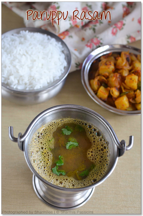 Paruppu Rasam and Potato curry Recipe
