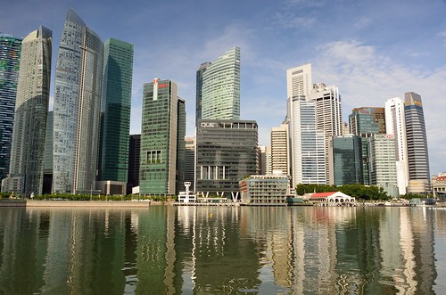 Skyline at Marina Bay by kewl