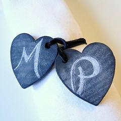 Chalkboard Heart Napkin Tie
