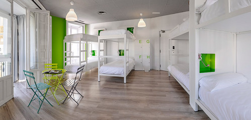 Uno de los dormitorios de U Hostels