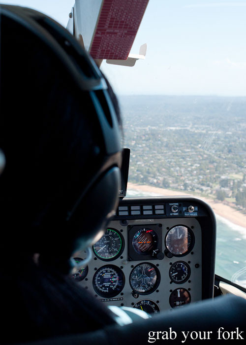 Bondi Helicopter flight aerial view of Sydney