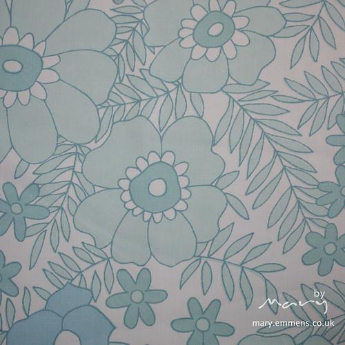 Vintage sheet - teal floral