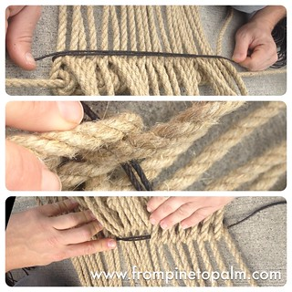 Weaving the sword mat