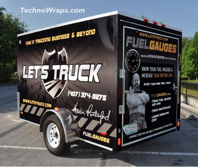 Trailer vinyl wrap by TechnoSigns Orlando