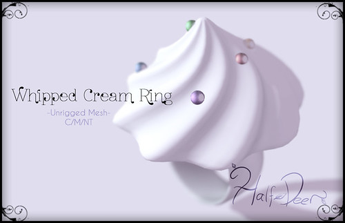 Junk Food Junkies Hunt - Whipped Cream Ring by Half-Deer (Halogen Magic)