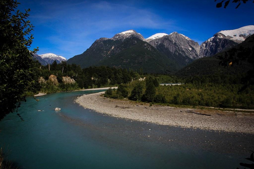 Rio Ventisquero. Rincon Bonito. Parque Pumalin. Chilean Patagonia.