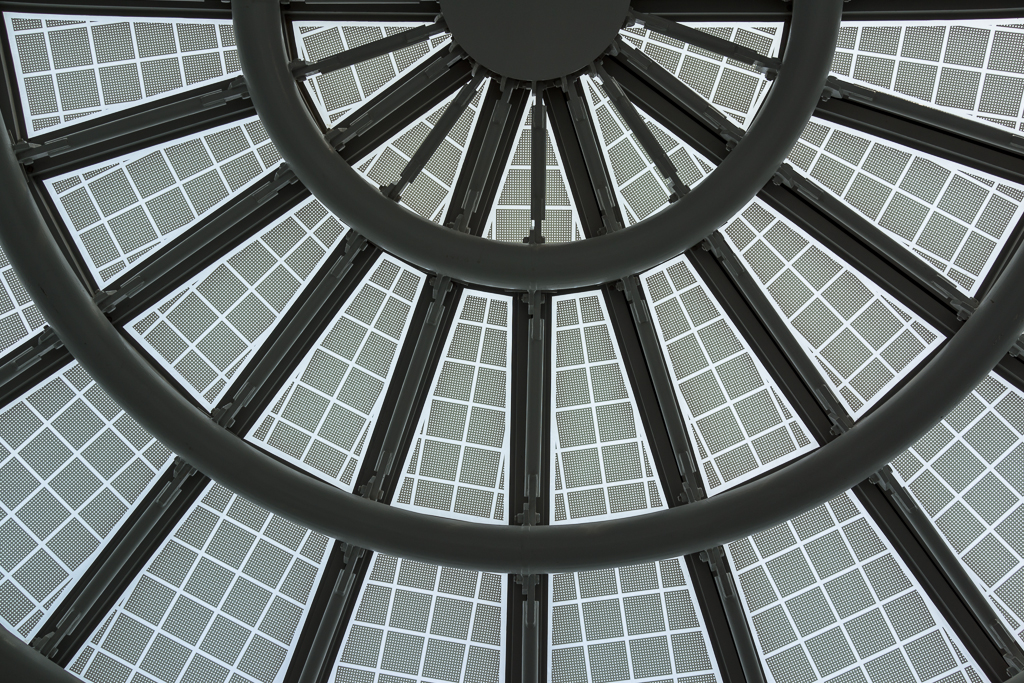 Roof detail, United Terminal, O'Hare