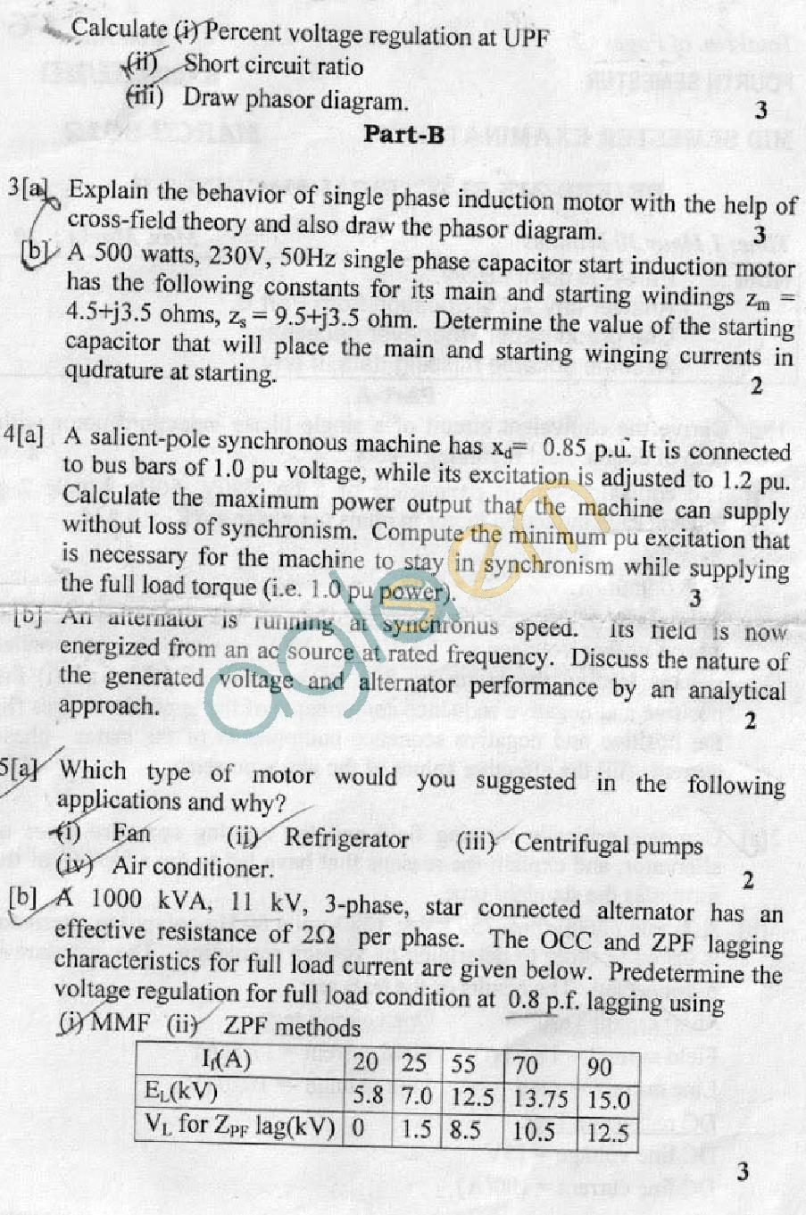 DTU Question Papers 2012 4 Semester Mid Sem EE EEE