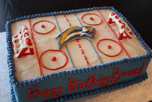 Buffalo Sabres Hockey Rink Cake