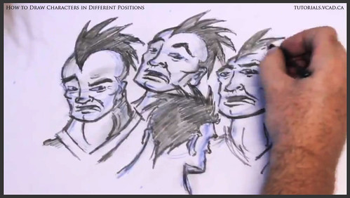 learn how to draw characters in different positions 033