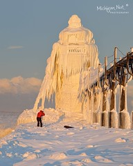 """Natures Art""  St. Joseph Lighthouse by Michigan Nut"