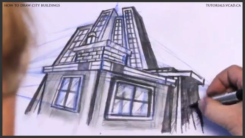 learn how to draw city buildings 039
