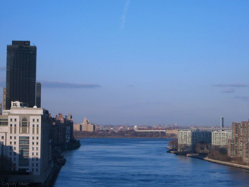 Over the East River, New York City by Coyoty