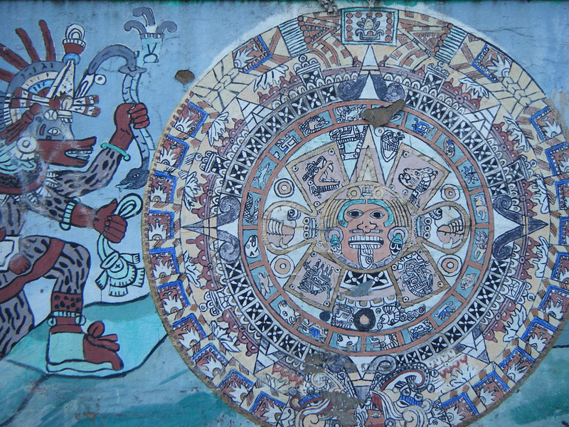 Maya circle mural