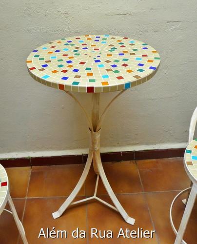 Mesa de mosaico para varanda