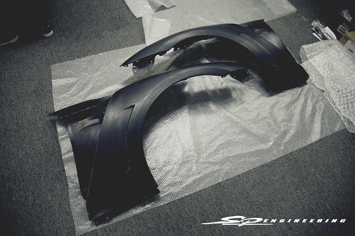 Just in C-WEST front fenders for the GT-R