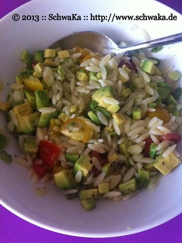 Nudelreis mit Limetten-Avocado