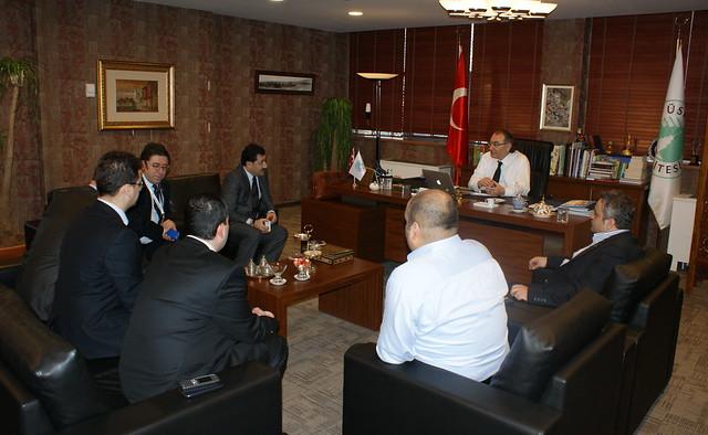 Marmara Sağlık Federasyonu Rektör Tarhan'ı ziyaret etti
