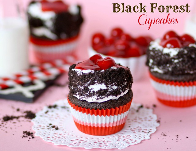 delicious Black Forest Cupcakes