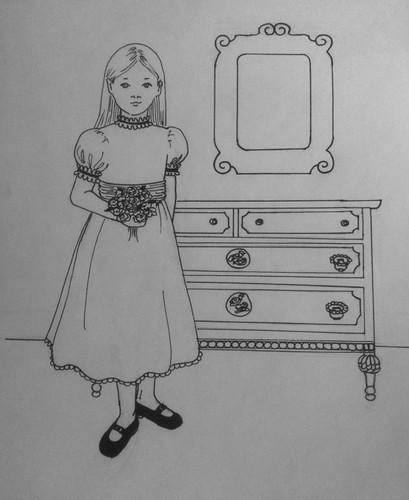 Flower Girl (Pen and Ink Drawing) by randubnick