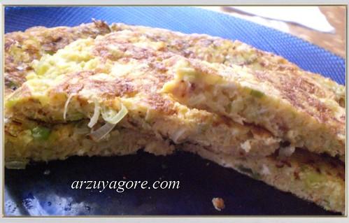 pırasalı omlet-2