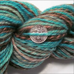 Navajo Turquoise handspun, close up