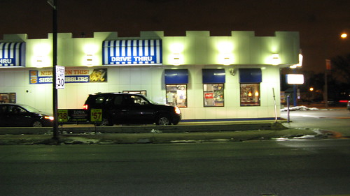 The White Castle Hamburgers restaurant at South Odgen and Harlem Avenues.  Berwyn Illinois.  Thursday, March 6th, 2013. by Eddie from Chicago