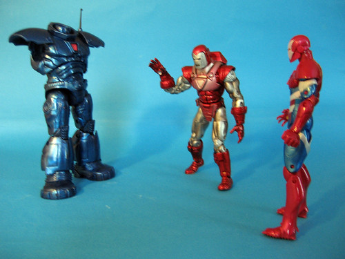 Partial Iron Monger with Iron Man and Iron Patriot