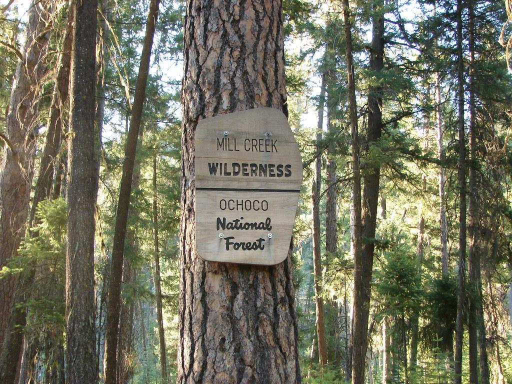 Mill Creek Wilderness sign