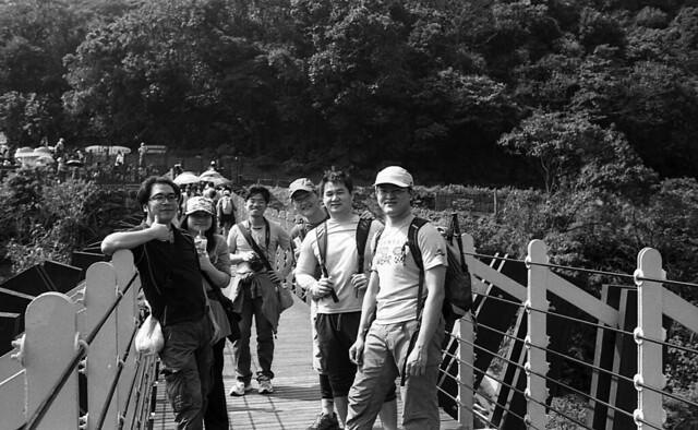 白石吊橋合照