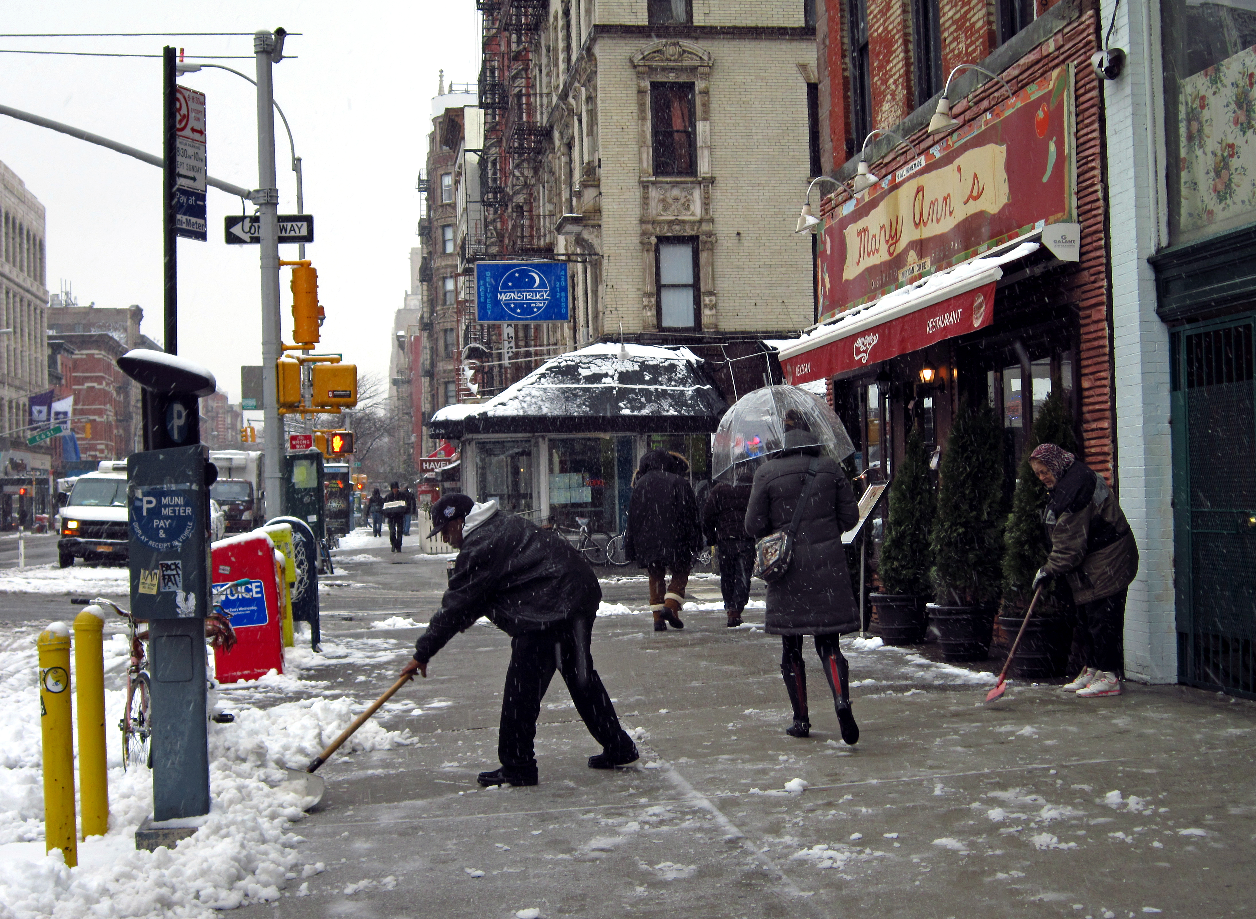 Shoveling 2nd Ave