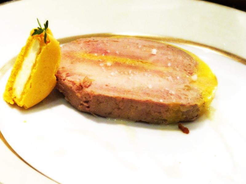 Goose Foie Gras with a Lemon-Thyme Macaron