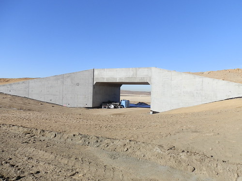 Photo of future golf course underpass along East Rail Line track alignment