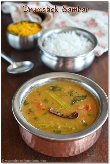 Sambar Recipe - Murungakkai Sambar - Drumstick Sambar Recipe ...