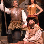 Arvada Center Man of La Mancha Clockwise from Left: William Michals (Don Quixote) Jennifer DeDominici (Aldonza) Ben Dicke (Sancho Panza) Photo P. Switzer 2013 -