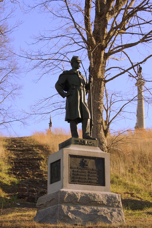 Orchard Knob: Pennsylvania Union Soldier Statue