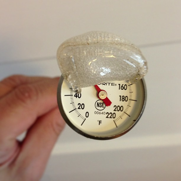 Melted Thermometer