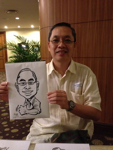 caricature live sketching for South West ComCare Local Network Anniversary Dinner cum ComCare Awards 2013 - d