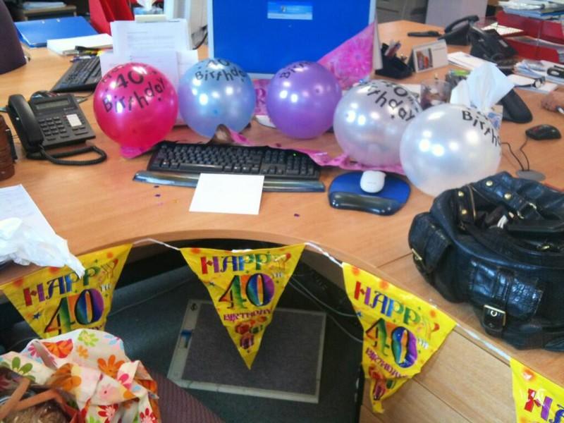 Birthday Desk Decorations
