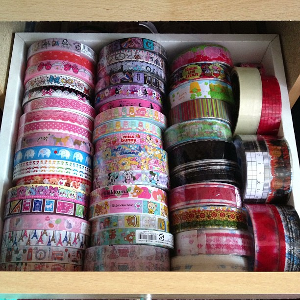 As you can see I don't need anymore #tape and I definitely won't be ordering anymore. These ones are my #london #paris #bears #animal #lace #bow #sentimentalcircus #aliceinwonderland #missbunny #carebears #minniemouse #rilakkuma #yumyums #transparent #pat