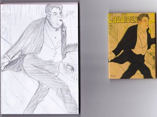 Sketch 3 Lautrec Caudieux poster by Janelle Wallace
