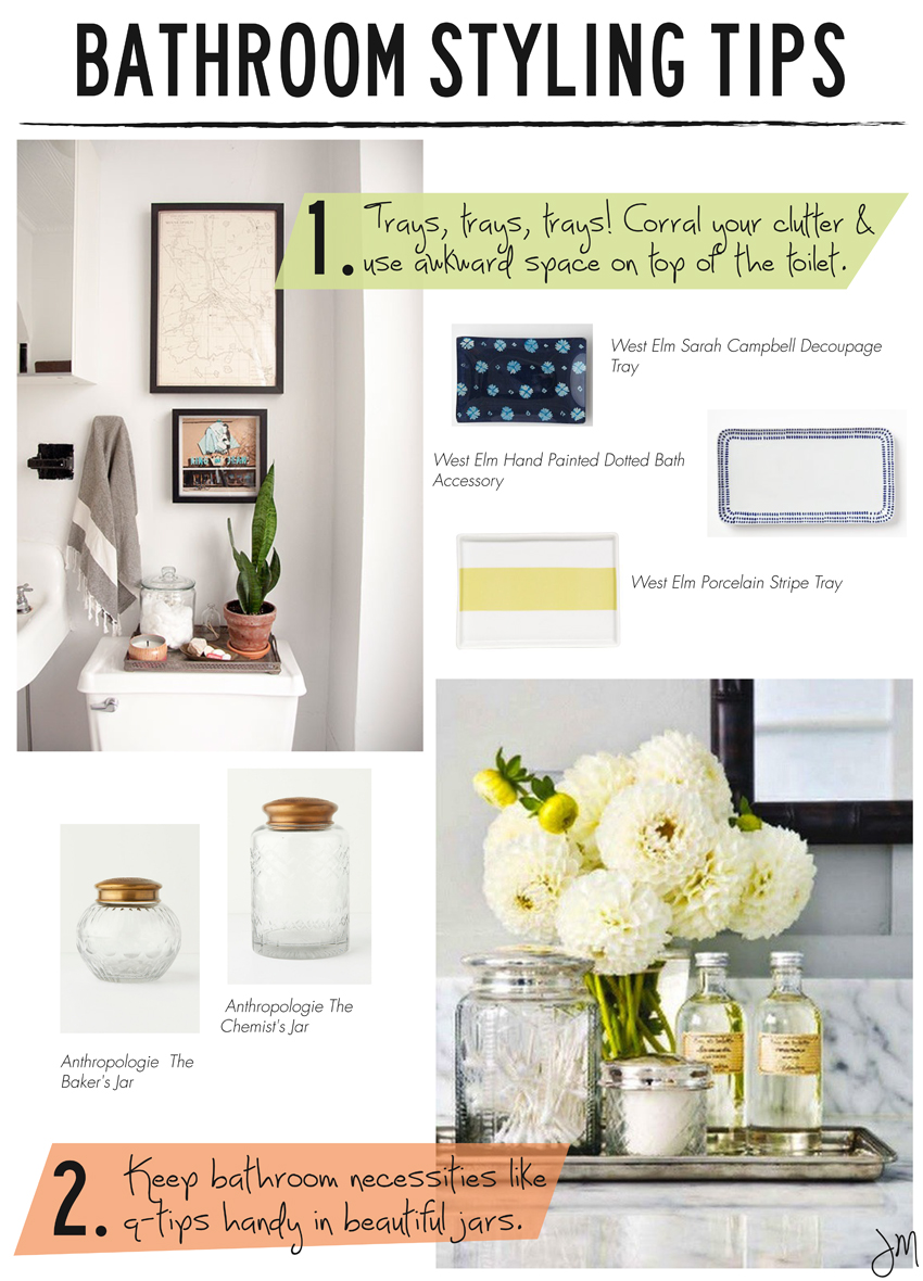 Styling Tips In Keeping With The Current Fashion Trends In: Julip Made: Bathroom Styling Tips