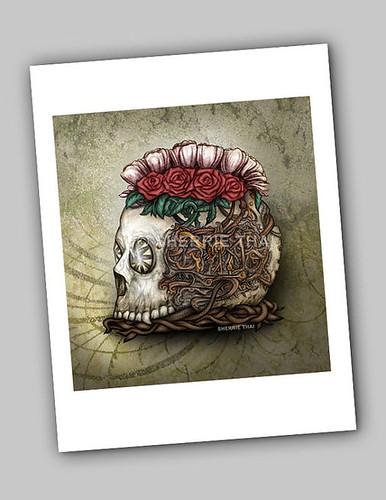Steamunk Skull Art Print